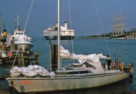 """Optima-101 (Dehler 34) """"Fehmarn"""". 1986 war Dehler die größte Sportbootwerft ..."""
